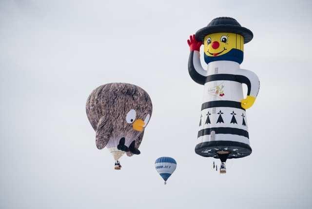 Chateau d'Oex balloon festivall