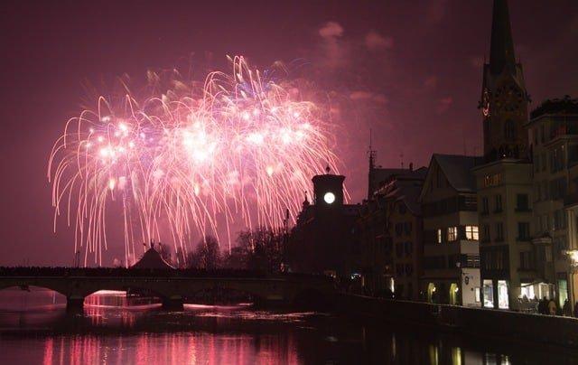 New year fireworks zurich 2015