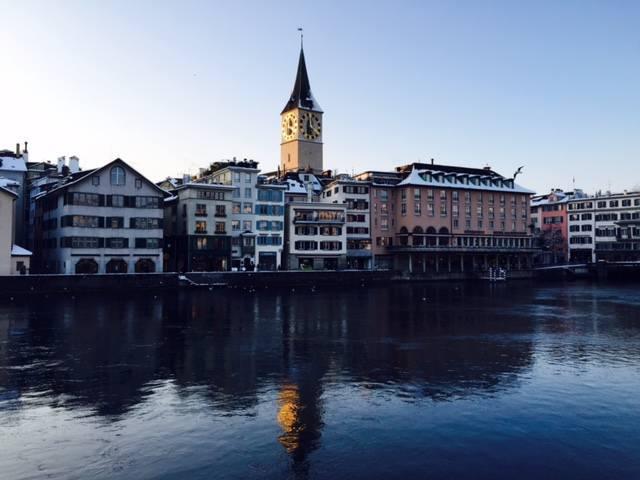 Photo of Zurich in the snow