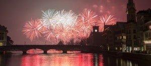 New Year Fireworks Zurich 2015 by Geoff Pegler