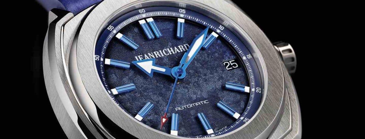 JeanRichard blue pieces watch