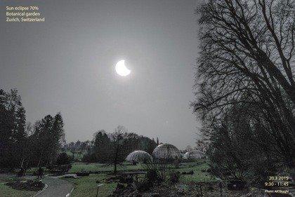 partial solar eclipse Zurich
