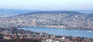 view over zurich from uetliberg