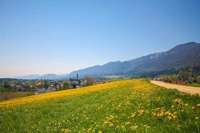 Hiking in Switzerland in the Spring