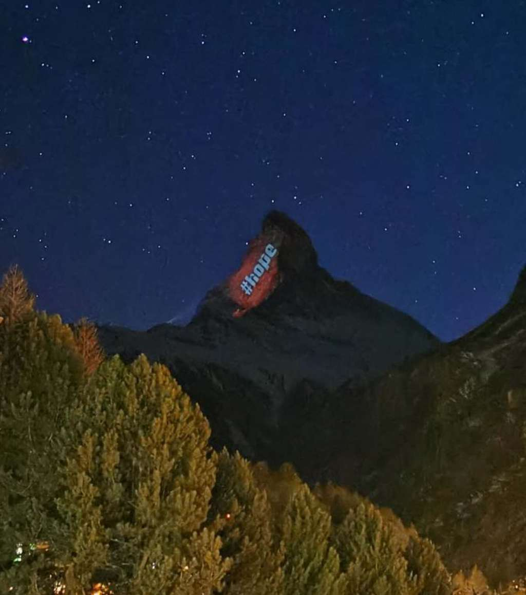 Messages of Hope on the Matterhorn Mountain - Corona pandemic