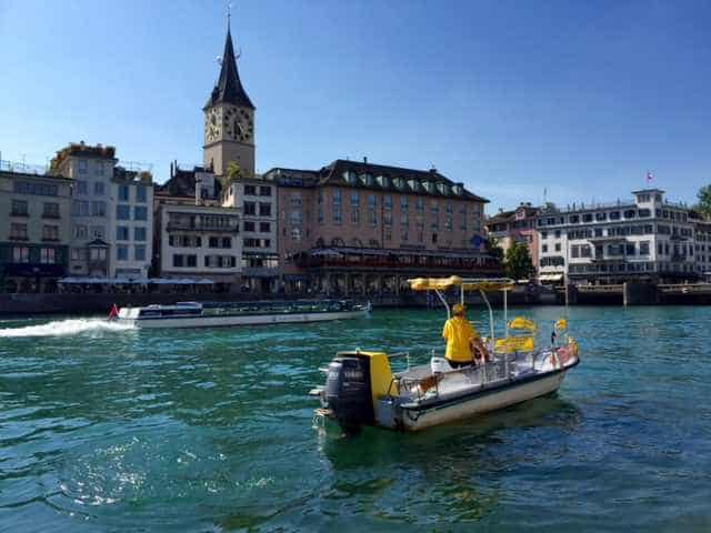 Zurich river boats