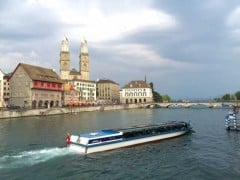 The Zurich River Boats on the Limmat