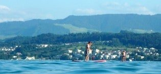SUP fun on the Zurichsee