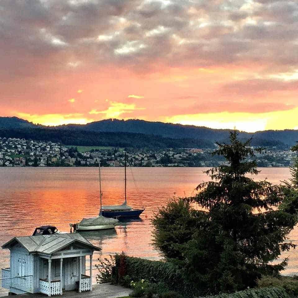 Zurich lake pink