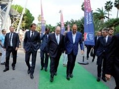 Prince Albert of Monaco at the Monte Carlo Padel Master