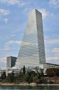 The tallest building in Switzerland - the Roche Tower