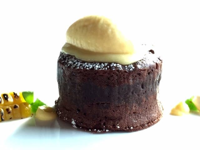 Chocolate fondant pudding at the Dolder Grand