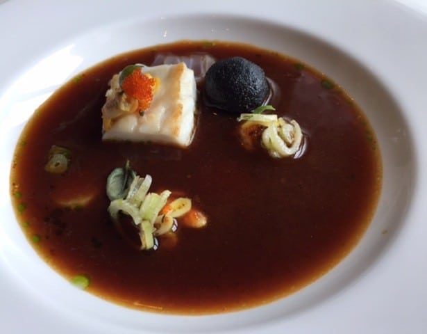 Fish soup at the Restaurant at the Dolder Grand