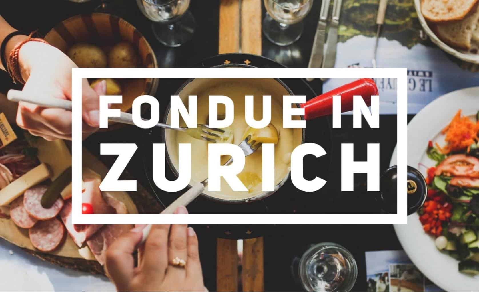 Where to find Fondue in Zurich