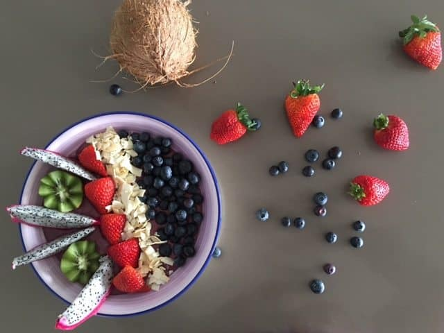 Acai fruit bowl