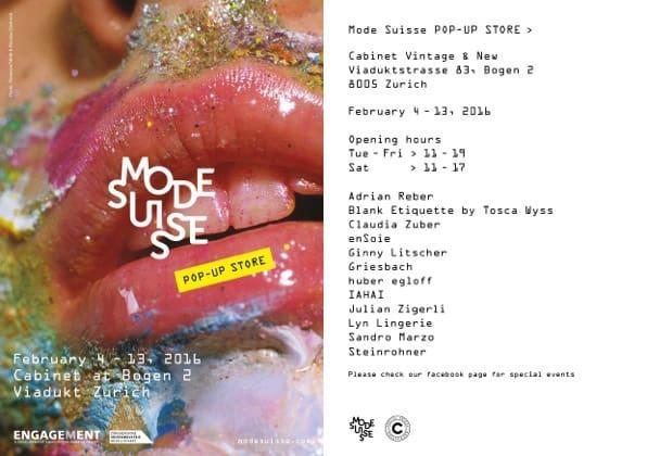ModeSuisse Pop Up Store Zurich