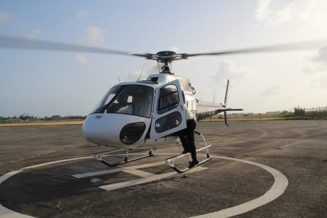 helicopter transfer from st lucia