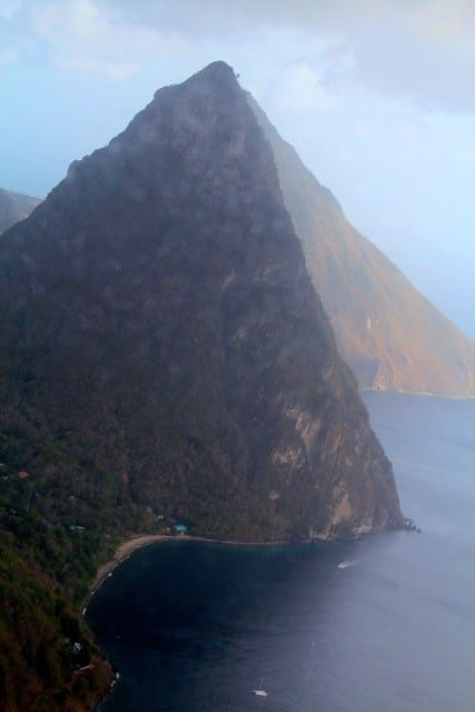 helicopter view of st lucia