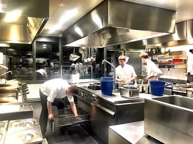 kitchens at George Bar and Grill Zurich
