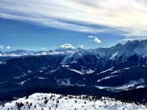 Great skiing at Flims Laax