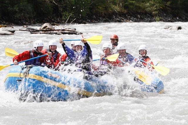 rafting near Flims Switzerland