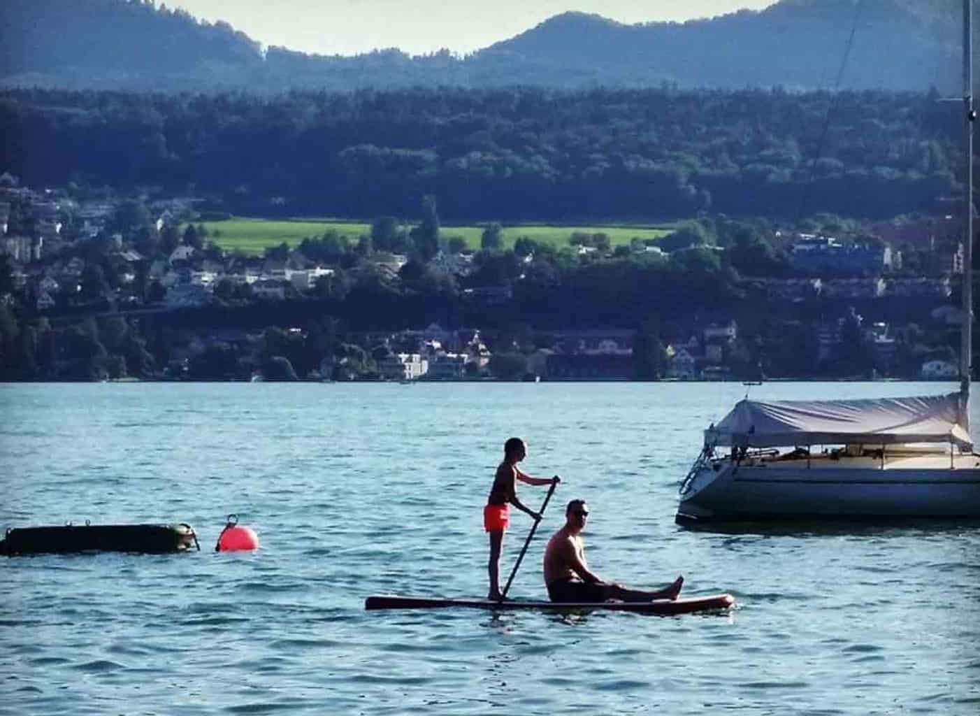 sup on lake zurich