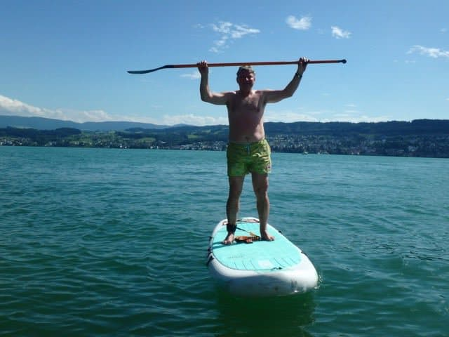 Jobe stand up paddle boarding