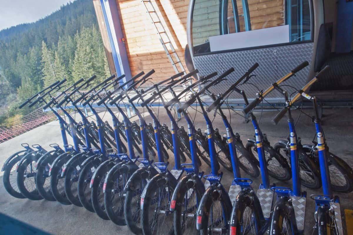 Trott Bikes at Grindelwald First Jungfrau