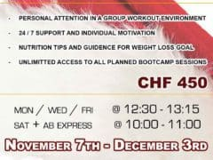 Santa's Zurich Bootcamp Getting you fit for Christmas!