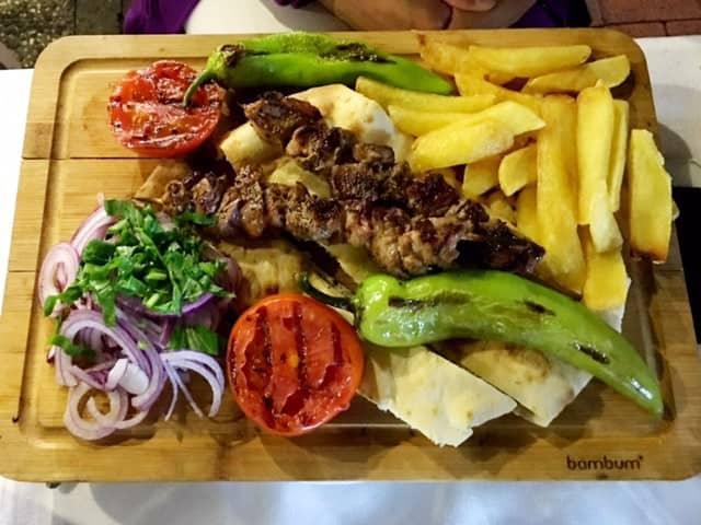 lamb-kebab at Fish Market in Fethiye