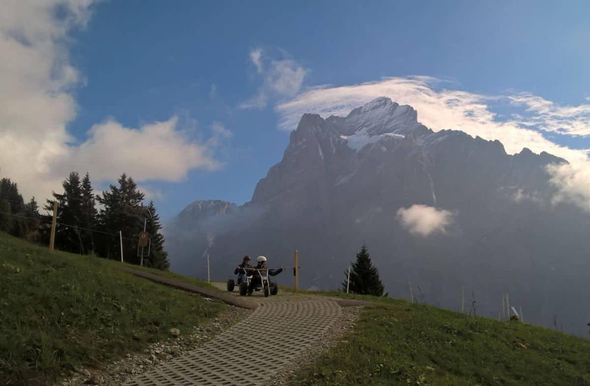 Mountain carts Grindelwald Photo Richard Fryer