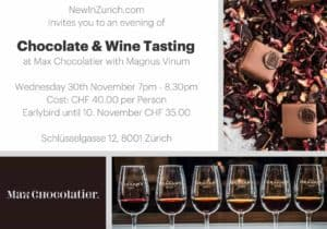Max Chocolate and Wine Tasting Zurich