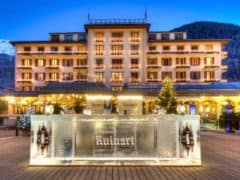The Ruinart Ice Bar at the Grand Hotel Zermatterhof