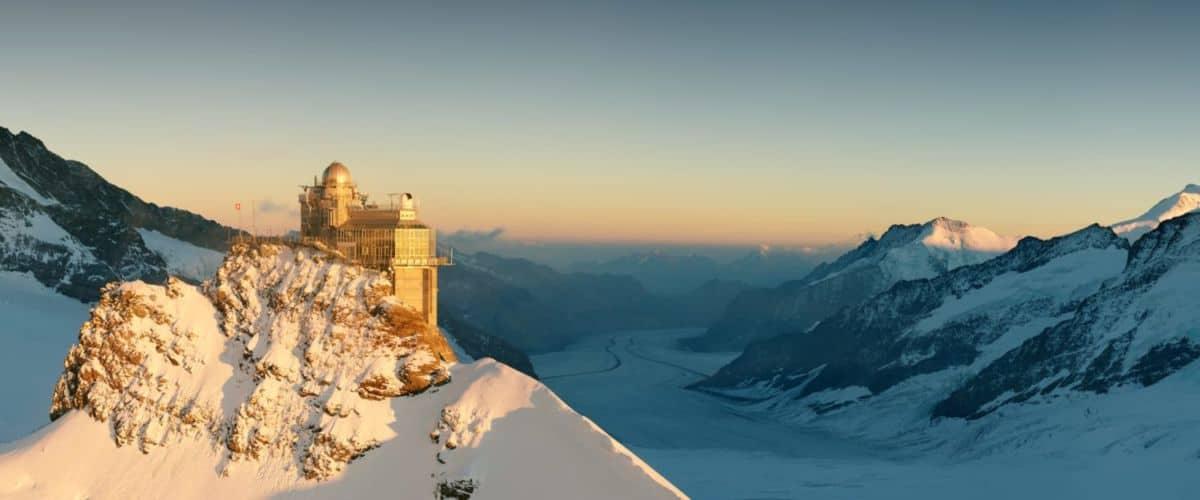 Jungfraujoch-Sphinx-Gletscher-Sonnenaufgang
