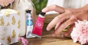 L'Occitane hand cream with rings