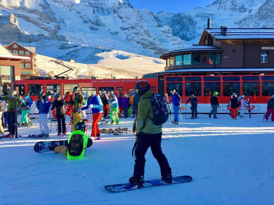 Skiing in Grindelwald in the Jungfrau Region of Switzerland