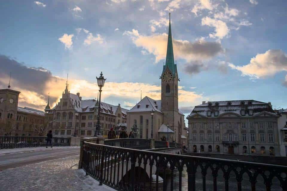 Zurich in the Winter by Carmen Sirboiu