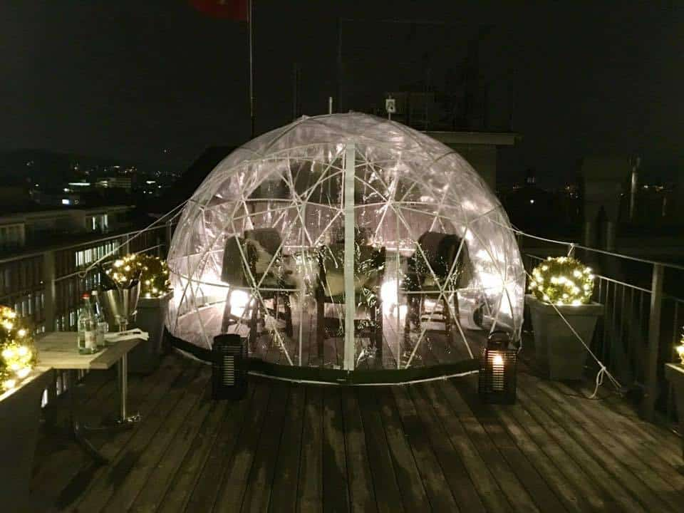 A Pop Up Fondue In An Igloo at Hotel Ambassador