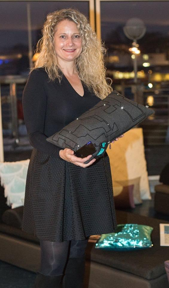 Kerstin Sick CEO of Swiss Cushion Brand Arit Spring Summer Launch Quai 61