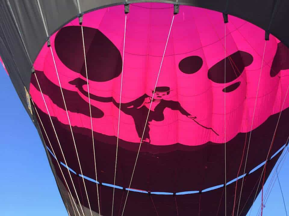 Colour and Snow at the Chateau d'Oex Balloon Festival
