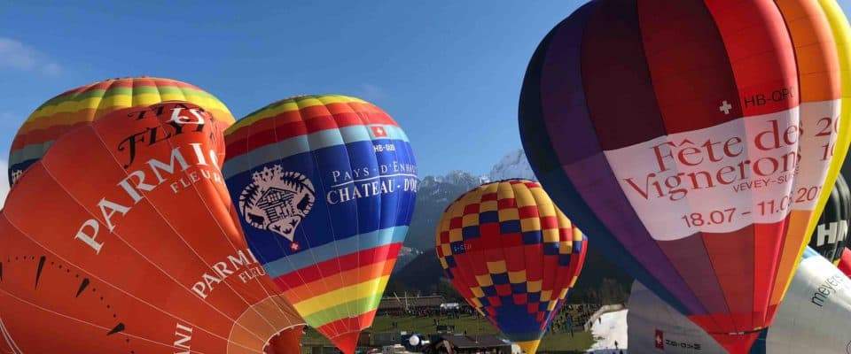 Chateau-d'Oex International Hot Air Balloon Festival Switzerland