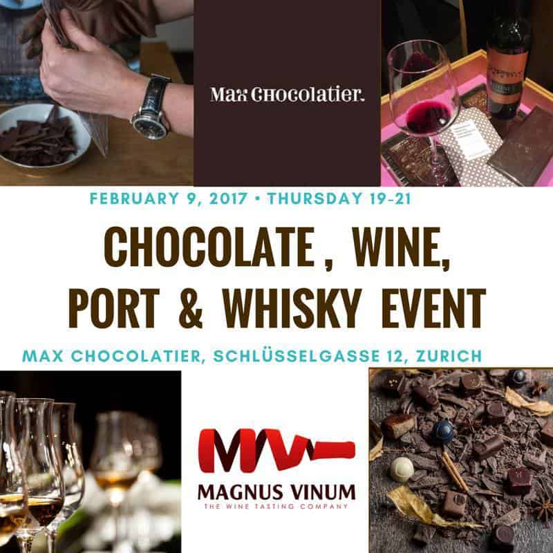 Wine and Chocolate Tasting event Zurich