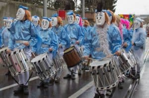 Celebrating Fasnacht in Basel Switzerland