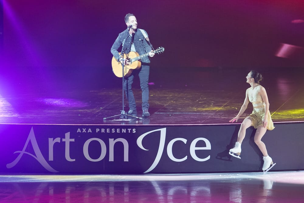 James Morrison and Sarah Meier Art On Ice 2017