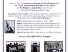 International Women's Day March in Zurich