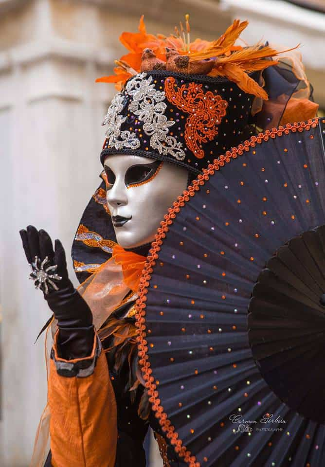 Masks and gowns at Venice Carnival