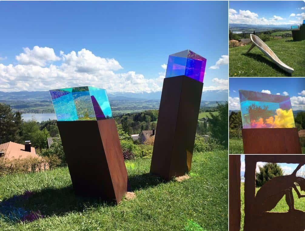 Sculpture exhibition at Hotel Wassberg Forch