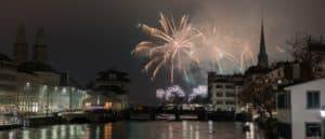 Photos of New Year Fireworks Silvester-Feuerwerk Zurich