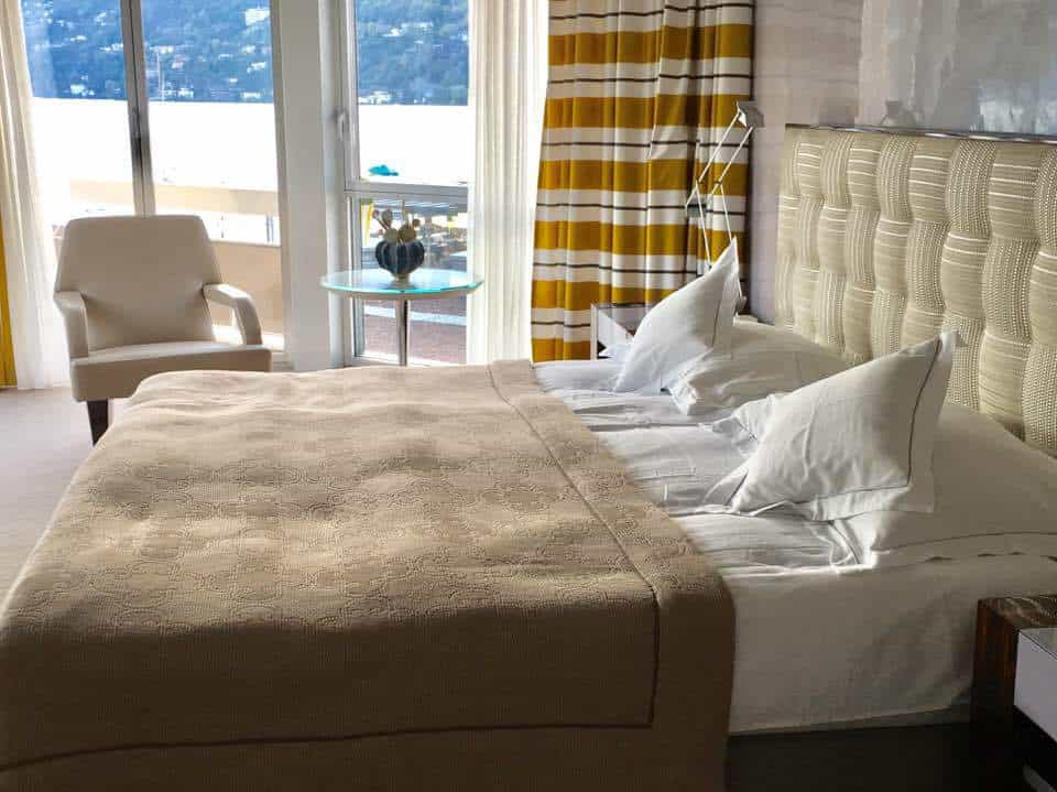Bedroom at the Hotel Eden Roc Ascona