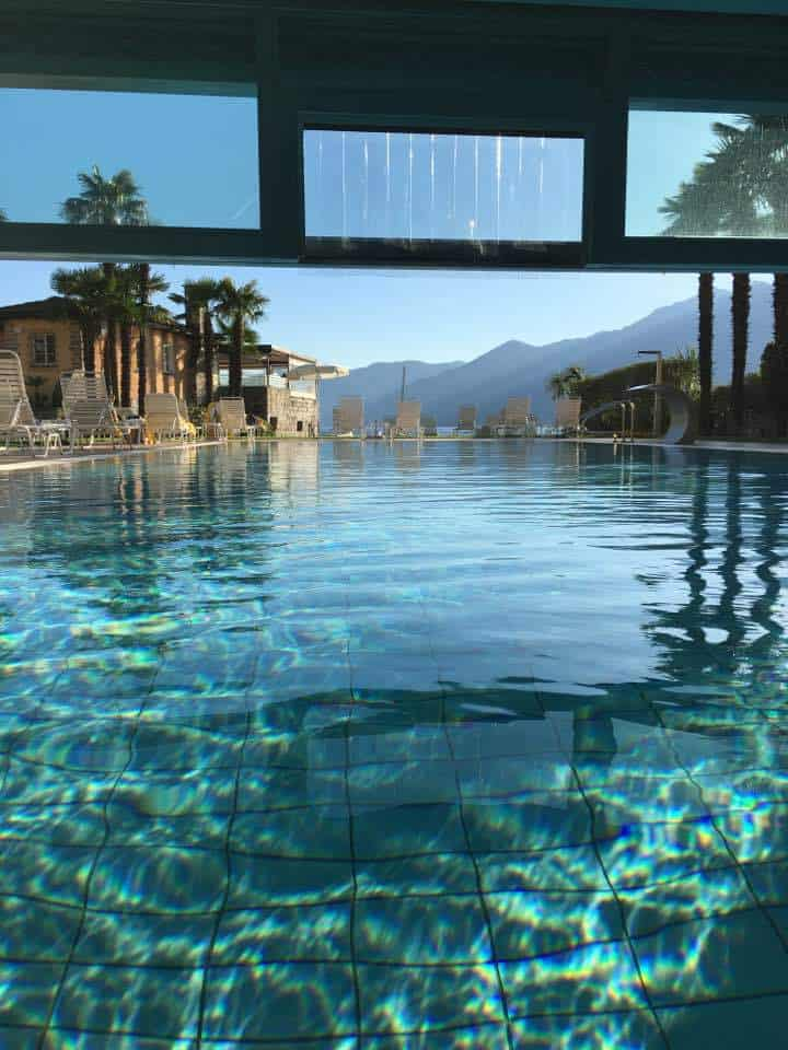 Swimming pool in Paradise in Ascona at the Eden Roc Hotel